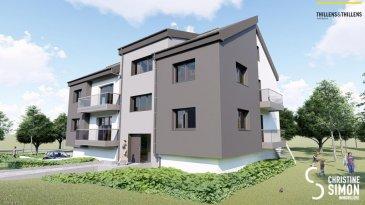Appartement de 88,08 m2 et d'un balcon de 5,81 m2 au premier étage. Comprenant double séjour avec cuisine ouverte (38,05 m2), balcon, 2 chambres à coucher (11,15 et 13,20 m2), débarras, salle de douche, toilette séparée. Vous pouvez acquérir en option un emplacement extérieur ou intérieur.   Résidence Am Lëtschert à Boevange-sur-Attert, 75, rue de Helpert. Commune de Helperknapp  Elle se situe à 12 minutes de Mersch, 11 minutes de Colmar-Berg, 6 minutes de Bissen et 27 minutes du Kirchberg. Elle se compose de 4 appartements de 61 m2 à 200 m2.  Chaque appartement a été aménagé avec un grand soin de détail et offre des prestations et des matériaux de grande qualité, dont quelques exemples de finitions: -Triple vitrage -Balustrade en verre -Ventilation controlée -Revêtement de sol haut de gamme -Equipement sanitaire contemporain et complet. -Chauffage à Pellets  Garantie décennale, Garantie d'achèvement et Garantie TRC. Ref agence :Appart 01-lot 012
