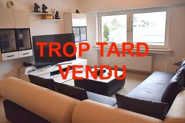 L'agence IMMOLORENA de Pétange a choisi pour vous un appartement à Belvaux de 80 m2 au 4ème et dernier étage avec ascenseur, à proximité des commerces, transports en commun et toutes commodités, il se compose comme suit:  - Un hall d'entrée de 7,92 m2 - Un salon de 23,10 m2 - Une chambre de 12.64 m2 avec balcon de 4,31 m2 - Une deuxième chambre de 11.45m2 - Une salle de bain faisant 6,96 m2 - Une cuisine de 12 m2    A VOIR ABSOLUMENT!!!!  Pour tout contact: Joanna RICKAL: 621 36 56 40  Vitor Pires: 691 761 110  Kevin Dos Santos: 691 318 013  L'agence Immo Lorena est à votre disposition pour toutes vos recherches ainsi que pour vos transactions LOCATIONS ET VENTES au Luxembourg, en France et en Belgique. Nous sommes également ouverts les samedis de 10h à 19h sans interruption.