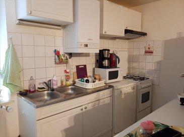 VASTE APPARTEMENT F2 EN RDC : Dans cadre verdoyant: Entrée, cuisine équipée ouvert sur séjour, 1 chambre, salle de bains et wc  chauffage individuel: gaz de ville Parking et terrain partagé