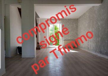Maison individuelle bien située. A découvrir maison individuelle d\'une surface d\'environ 115m² au sol, comprenant une entrée ouvrant sur un beau séjour de 32m², une cuisine équipée, une salle de bains ainsi qu\'une première chambre se trouvant au rez-de-chaussée. A l\'étage deux chambres sous mansarde de 22m² et 25m².  Vous bénéficiez d\'une terrasse bien exposée, d\'une jardin clôturé et arboré, d\'un puit en fonction, d\'une dépendance.d\'un garage attenant et d\'une cave. La parcelle totale est de 1380m² avec une partie constructible.Contact : 0688700833Prix : 105 000€ FAI (Frais d\'agence à la charge du vendeur) - barème honoraires : www.tfimmo.com /nos-honoraires.php - Contact : 06.88.70.08.33 - cindythube.tfimmo@gmail.com