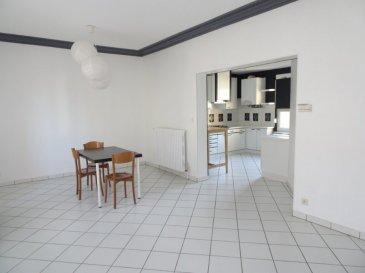 Appartement Thionville 3 pièce(s) 76.05 m2. Situé 10 boulevard Hildegarde, au 2ème étage d'une petite copropriété, cet appartement lumineux de 76 m² se compose : d'une pièce à vivre semi-ouverte sur la cuisine équipée, d'une surface totale de plus de 35 m²; de deux chambres de 11,44 m² et 12,69 m², une salle de douche ainsi qu'un WC individuel. Vous disposerez également d'une grande cave privative et d'un jardin commun. Pas de défaut électrique, DPE: C, chauffage individuel au gaz, taxe foncière: 671 €. IMMO DM: 03.82.57.31.87   Copropriété de 6 lots (Pas de procédure en cours). Charges annuelles : 780.00 euros.