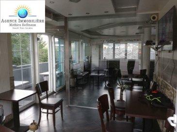 WILTZ – FOND DE COMMERCE A VENDRE  Très bel bar style oriental, actuellement une lounge Chicha, à vendre à Wiltz. Le bar est complètement équipé et se situe sur la route principale. Lumière LED couleur intégré dans le faux plafonds des salles.  Le fond de commerce est composé sur 100m2 comprenant:  - 1 lounge 92m2 Dont 1 salle fumoir équipé d'un système d'extraction et d'épuration d'air et 1 salle non-fumoir - 1 cuisine équipé de 8m2 avec porte service sur terrasse - 1 salle utiliser pour encaissement - 2 toilettes séparés femmes/hommes - 1 toilette privé employés - 1 terrasse couverte de 25m2 - 1 débarras  - le bar est accessible par 2 portes d'entrée - places de parking privé derrière le bar - 1 garage utilisable pour stockage  Le loyer du commerce est de 1700,00.- € et les charges sont de 300,00.-€.   Le bar se situe proche de toutes commodités, transport public,  autobus et gare.  Loyer 1700,00.- € + Charges 300,00.- €  Disponible sur demande.
