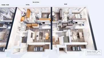 *** 30% Dejá Reservées***  Immo Casa vous propose une nouvelle résidence située dans le quartier du Kiem à Luxembourg-Neudorf offrant des prestations de très haut standing.  Trois immeubles de 3 étages composé de 9 logements dont 3 penthouses.  Les appartements bénéficieront de 2 orientations ce qui permettra une luminosité optimale puisqu'ils seront traversants.  Nous vous proposons par exemple ce logement au n° 53A, rue du Kiem au 2e étage comprenant une cuisine ouverte sur le salon donnant accès sur une terrasse (15m2), 2 chambres à coucher, deux salles de douche, un wc séparé, une cave et un jardin privatif (76m2). La conception à l'arrière du bâtiment permettra aux résidents d'accéder à leur jardin privatif.  Les prix affichés avec la TVA de 3%  Possibilité d'acquérir une place de stationnement intérieur à 55 000 € HTVA.  Pour d'autres informations veuillez contacter l'agence.
