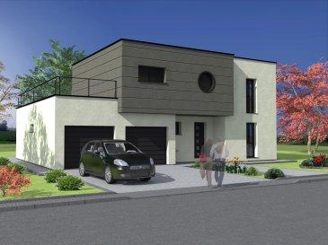 CLAYTONIE Dans ce charmant village , nous vous proposons cette maison moderne à étage, toit plat. Au rez-de-chaussée, vous profitez de ce vaste et lumineux espace de vie de près de 63.13 m2 avec un WC séparé. A l'étage, nous vous proposons 3 chambres spacieuses y compris dressing, dont une suite parentale avec dressing, salle de bain privative et une terrasse. Une salle de bains avec baignoire et WC, ainsi qu'un bureau. Un garage pouvant contenir 2 voitures, un cellier idéale pour du rangement. Possibilité de rendre accessible le toit terrasse. Ce modèle est entièrement personnalisable comme l'ensemble de nos créations Maisons LOTIBAT la référence.