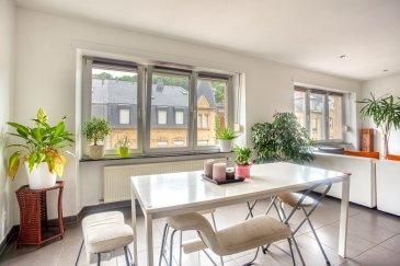 Veuillez contacter notre agent Eusébio Henriques pour de plus amples informations au 691 66 00 33 ou par e-mail : henriques.eusebio@remax.lu.  RE/MAX, Spécialiste de l'immobilier sur Differdange, vous propose ce beau Duplex de 3 chambres de 138m2. Ce bien situé dans une petite résidence soignée de 3 appartements composé comme suit:  Au deuxième étage: Hall d'entrée avec armoire incorporée. une première chambre. cuisine équipée ouverte sur un beau et lumineux  salon/living,  une salle de douche avec WC et vasque.  Au troisième étage: Hall  1 chambre parental 1 chambre d'enfant une deuxième salle de douche avec vasque et WC ainsi qu'un local pouvant servir de bureau.  Pour compléter le tout : une cave.