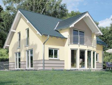 Energiespar-Haus Kamen    Wohnfläche: 140m²  Hausgröße: 11,21m  x  8,08m    WICHTIG: Das abgebildete Haus ist ein Planungsbeispiel. Abweichungen können sich ergeben