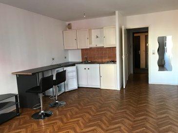 En plein cœur du centre-ville de Metz et proche de toutes commodités ainsi que des transports en communs, ce studio se compose d'une pièce à vivre, d'un coin cuisine équipée, d'une salle de bains et d'un WC. Chauffage individuel électrique  Frais d'Agence: 30.45 m² x 11 € = 334.95 €  Disponibilité immédiate  En Chaplerue