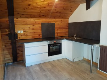 Dans petit immeuble calme, vaste appartement de type F3 situé au dernier étage, comp : entrée, cuisine équipée ouverte sur salon séjour, 2 chambres, 1 cellier, 2 salles de bains et wc. Cave et parking.