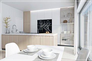 Dans une résidence de grand standing avec une vue imprénable dans un quartier de qualité.  L'appartement se trouve dans une résidence de seulement 3 appartements. Il se compose de: - Deux grandes chambres à coucher de 16m2 et 18m2 - Salle de douche - W.C. séparé - Cuisine ouverte avec living et grand living de 33m2 - Grande terrasse de 20,45m2  L'appartement disposera d'une fintion de très haute qualité avec: - revêtments de sol de 70€/m2 - salle de bains de qualité - peinture intérieure - chauffage au sol - triple vitrage - ...  L'appartement profitera d'une assurance bi et décennale d'une grande assurance du Luxembourg.  Images 3D non contractuelles.