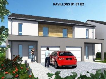 Votre maison en bordure de forêt. Clouange : Le Clos de la Fontaine : 12 maisons F4 de 85,13m² dans nouveau lotissement. Mitoyennes sur 1 côté, composées en Rez de jardin d\'une cuisine ouverte sur séjour, accès terrasse 13m² et jardin, un wc indépendant, un garage (15m²) pour un VL, une annexe (6m²). A l\'étage, un rangement, une sdb et 3 chambres. Chauffage individuel gaz, RT 2012. Parcelles de 139m² à 253m². Démarrage des travaux, 2ème trimestre 2017. Prix : A PARTIR DE 194.800euro honoraires inclus.