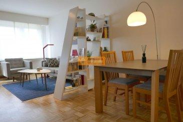 SOUS COMPROMIS!  Beau studio de 38 m2 rénové et meublé, situé au 2ième étage d'une résidence bien entretenue.  Le studio dispose de :  Hall d'entrée, grand living/salle à manger avec armoire encastrée, cuisine équipée, chambre à coucher, salle de douche, 1 WC séparé et cave.  Le studio se trouve dans un état impeccable.  A visiter.   L'immeuble est idéalement placé (coin rue Sigismond / rue Dernier Sol ) dans le quartier de Bonnevoie à proximité de la piscine, arrêt de bus, commerces, restaurants et futur arrêt du Tram.  Ref agence : 229