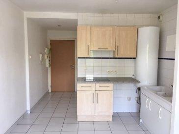 Appartement F2 de 32m2 situé au 1er étage d'une résidence récente comprenant entrée sur séjour avec cuisine ouverte, une chambre avec accès salle de bains(douche) et WC. Double vitrage PVC, chauffage électrique. Pas de travaux à prévoir. Secteur calme, proche des commerces et accès routiers