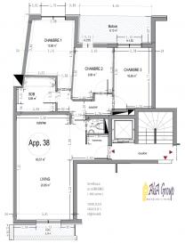 Info : 691 384 190 / 691 262 919 ; Email : info@immo-aba.lu Très belle résidence vis-à-vis de la Gare d'Esch-sur-Alzette. Première location / Occupation, Appartement de 3 chambres, Salon / salle à manger / cuisine ouverte, Salle de bains / salle de douche, WC séparé, Penthouse traversant, vis-à-vis. Ascenseur, Possibilité de louer place de parking / garage au sous-sol.