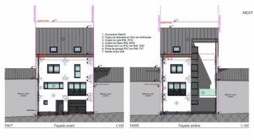 NEWGEST vous propose une maison en VEFA dans la rue des Remparts, en plein centre d'Esch-sur-Alzette  La maison se compose comme suit:  Au RDC: - Hall d'entrée - Grand garage pour 2 voitures - Buanderie - WC séparé  Au 1° étage: - Living (+/- 37.52m2) - Cuisine ouverte  Au 2° étage: - 3 chambres - Salle de bain  Combles à aménageables  N'hésitez pas de nous envoyer un mail pour amples renseignements.  tria@newgest.lu