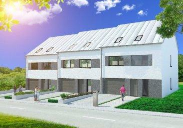 """TMC IMMO vous propose une nouvelle construction dans le lotissement """"an Peitsch"""" à Dahlem, Commune de Garnich  Maison mitoyenne clé en main, avec un jardin orienté plein sud.  Situé au coeur de Dahlem, à 200m de l'école primaire   Terrain de 2.8 ares Surface total: 257 m2  Description du bien  Sous sol:  - 3 caves - buanderie  Rez de chaussé:  - WC séparé - Séjour et cuisine - Rangement - Garage  Premiere étage:  - 4 chambres - 1 salle de bains - 1 salle de douche  Deuxième étage:  - surface de 65.18 m2 à aménager  - possibilité d'aménager 2 chambres, salle de bains, dressing e.t.c, suivant demande   Prix avec 3% de TVA: 858 333 € Prix avec 17% de TVA 908 333 €   Pour plus d'informations veuillez contacter l'agence TMC Immo."""