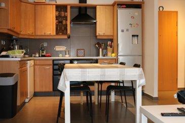 Joli appartement au rdch d'un immeuble construit en 2000. Possible de utiliser cette appartement pour profession libéral. Comprenant une chambre a coucher, un bureau possible de faire une deuxième chambre à coucher,cuisine équipé,living, salle de douche, cave et emplacement  voiture intérieur.