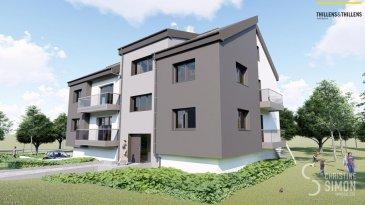 -- FR --  Appartement de 60,91 m2 et d'un balcon de 8,02 m2 au deuxième étage.  Comprenant double séjour avec cuisine ouverte (30,80 m2), balcon, chambres à coucher (12,80m2), débarras, salle de douche, toilette séparée.  Garage et emplacement extérieur.   Résidence Am Lëtschert à Boevange-sur-Attert, 75, rue de Helpert.  Commune de Helperknapp   Elle se situe à 12 minutes de Mersch, 11 minutes de Colmar-Berg, 6 minutes de Bissen et 27 minutes du Kirchberg et 23 minutes de Diekirch.  Elle se compose de 4 appartements de 61 m2 à 200 m2.  Chaque appartement dispose d'un garage intérieur et un emplacement extérieur.   Chaque appartement a été aménagé avec un grand soin de détail et offre des prestations et des matériaux de grande qualité, dont quelques exemples de finitions:  -Triple vitrage  -Balustrade en verre  -Ventilation controlée  -Revêtement de sol haut de gamme  -Equipement sanitaire contemporain et complet.  -Chauffage à Pellets   Tous les prix annoncés s'entendent à 3% TVA, sujet à une autorisation par l'administration de l'enregistrement et des domaines.  Garantie décennale, Garantie d'achèvement et Garantie TRC. Ref agence :Appart 02-lot 013