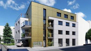 L\'appartement de 59,04m2 habitables situé au premier étage de la résidence, se compose d\'un hall d\'entrée, un séjour/salle à manger, une cuisine ouverte, une chambre à coucher, un débarras, une terrasse, une salle de douche, WC séparé et une cave privative de 5m2  Prix App. 02B - Lot 021B: 634.200,00€ (TVA 3% - pour habitation) Prix App. 02B - Lot 021B: 659.406,36€ (TVA 17% - pour investissions/placement)  Emplacement de parking intérieur en supplément au prix de 45.000€ hors TVA.  « SOLARIS » est une résidence de taille moyenne construite selon les normes d\'une construction basse énergie. L\'architecture sobre et à la fois contemporaine offre des prestations optimales dans le plus grand respect de l\'environnement. L\'utilisation de matériaux de qualité tels que le verre, l\'acier, le béton, l\'isolation, confère à cet ensemble, une esthétique architecturale distincte se différenciant des bâtiments adjacents.  L\'immeuble comprend entre autres une façade en panneaux ?TRESPA?, un système de chauffage au sol, des stores à lamelles électriques, un système domotique, des finitions de qualité et d\'équipements provenant de marques reconnues tels que Villeroy&Boch. Elle est conçue pour vous garantir un confort optimal et des espaces de vie de qualité. Afin de vous satisfaire au mieux, un architecte peut vous être proposé afin d?aménager votre habitat selon vos goûts. Rollingergrund est à quelques pas du centre-ville de Luxembourg, à quelques minutes de la gare centrale de Luxembourg est à seulement 3 km et l\'aéroport international de Luxembourg est à seulement 10 km.  Tous les prix annoncés s?entendent à 3 % TVA, sujet à une autorisation par l\'Administration de l\'Enregistrement et des Domaines. Nous sommes disponibles pour vous faire une présentation de l\'appartement et du cahier de charges, n\'hésitez pas à nous contacter 28.66.39-1 ou bien par mail : info@realgimmo.lu.  Les visites ont repris, et nous sommes heureux de pouvoir à nouveau vous revoir ! Notre équi