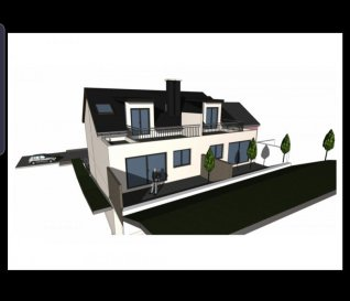 Maison en état future construction à HOBSCHEID  Découvrez cette maison bifamilialle haut de gamme qui sera érigé dans le quartier du Hobscheid livré clé en mains.  Chaque appartement possède une surface habitable de  -140 m2, avec une entrée commune donnant donnant sur :   Lot A - Gauche   Au RDC : garage pour deux voitures, un emplacement extérieur, buanderie, cave et local technique    Au 1er : spacieuse cuisine ouverte donnant vers le séjour/salon de /- 81,25 m² avec accès sur une terrasse de  /- 20m2  et  jardin de  /- 1 ares séparée de par une palissade, un WC séparé   Au 2éme :un hall de nuit desservant 1 salle de bains de 6 m², et 3 grandes chambres, avec  l'accès à un balcon de 12 m².  Merci de contacter notre Bureau IMMO NORDSTROOSS pour toute information supplémentaire ou visiter le bien. À votre disposition Elshan Stiljana GSM: 691 850 805  Ref agence :SE