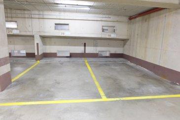 LUXEMBOURG LIMPERTSBERG, 58, avenue de la Faïencerie, emplacement de parking à vendre au 3ème sous-sol, numéro 19,  libre de suite,  Contact et visites: Mme Nassim TOLOUI téléphone : 69112 04 78