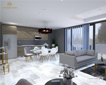 *** 30% Dejá Reservées ***  Immo Casa vous propose une nouvelle résidence située dans le quartier du Kiem à Luxembourg-Neudorf offrant des prestations de très haut standing.  Trois immeubles de 3 étages composé de 9 logements dont 3 penthouses.  Les appartements bénéficieront de 2 orientations ce qui permettra une luminosité optimale puisqu\'ils seront traversants.  Nous vous proposons par exemple ce logement comprenant une cuisine ouverte sur le salon donnant accès sur une terrasse (23.50m2), 2 chambres à coucher, deux salles de douche, un wc séparé, une cave et un jardin privatif (66m2). La conception à l\'arrière du bâtiment permettra aux résidents d\'accéder à leur jardin privatif.  Les prix affichés avec la TVA de 3%  Possibilité d\'acquérir une place de stationnement intérieur à 55 000 € HTVA.  Pour d\'autres informations veuillez contacter l\'agence. Ref agence : 1906559