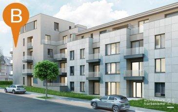 Nouvelle Résidence « IZOARD » à construire à Luxembourg-Cessange, Boulevard du Brill   - Description -  La Résidence se compose de 49 unités - appartements et studios  LOT 1-18-A L'appartement au 1er étage se compose commme suit: - Hall d'entrée, cuisine ouverte au grand salon, balcon, 1 chambre à coucher, débarras, salle de bains, WC séparé  - Informations supplémentaires -  Les prix affichés s'entendent TVA 3%   - Localisation -  Autoroute: +/- 2 km Aéroport: +/- 12.5 km Centre-Ville. +/- 4 km Cloche-d'Or: +/- 2 km  Commodités aux alentours: crèche, école primaire, lycée, supermarché, restaurants, cafés, transport public  -Classe énergétique -  AAA  N'hésitez pas à nous contacter pour tout renseignement supplémentaire ou pour un rendez-vous à l'agence, soit par mail contact@b-immobilier.lu, soit par téléphone au numéro +352 26 44 13 88.   ---Sous toutes réserves---  Ref agence :7789