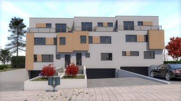 Belle maison bifamiliale libres des 3 côtés, avec 2 beaux duplex à basse énergie (AA) située sur un terrain de 3.66 ares. Maison dotée d'une architecture moderne, au sous-sol se trouve 1 cave de 3.50 m2, 2 locaux technique, un local poubelles et 3 emplacements intérieure en sup.    Le duplex de 123.60 m2 au 1er étage avec ces 2 chambres 1 x 10.56 m2, 1 x 9.02 m2, un bureau de 6.04 m2, une salle de douche de 5.10 m2, une toilette séparé et un débarras, au 2 étage nous avons un séjour-cuisine-salle à manger de 49 m2, une chambre parentale de 24 m2 avec une salle de douche, un dressing, 2 balcons 1 x 15.96 m2 à l'arrière, 1 x 7.47 m2 façade avant.   Construites avec des matériaux d'excellente qualité, elle est conçue pour vous offrir des pièces de vie avec de beaux volumes et beaucoup de luminosité. Le constructeur réalise lui-même l'ensemble des aménagements intérieurs-extérieure (fenêtres, carrelage etc.), dispose d'un showroom où il est possible de visualiser et de choisir tous les équipements proposés.  Durant toute la durée de la construction, vous n'aurez qu'un interlocuteur unique pour tout l'ensemble des travaux réalisés dans les appartements, du gros-oeuvre aux finitions.  De nombreuses possibilités de personnalisation sont possibles pour le choix des finitions privatives.  Plans et cahier des charges disponibles sur demande. Pour une présentation plus complète du projet, veuillez nous contacter. Tél 621 202 210.