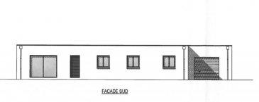 Maison Derval 8 pièce(s) 107.64 m2. Maison à vendre sur plan de plain pied avec un toit plat situé dans le centre bourg de Derval. Elle se compose d\'une pièce à vivre, une cuisine, un cellier, trois chambres, salle de bains, salle d\'eau, un wc et un garage attenant de 23 m². Le tout sur un terrain de 400 m².  dont 6.06 % honoraires TTC à la charge de l\'acquéreur.<br>