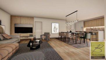 Appartement lumineux au 1er étage, d\'une construction et d\'une finitions d\'haut gamme.  L\'appartement est construit d\'après nouvelles normes avec les nouvelles technologies comme chauffage au sol), panneau solaire, ventilation VMC double flux, vidéophone, triple vitrage avec raffstore électrique.  L\'appartement comprenant:  Au 1er étage: - Hall d\'entrée - Cuisine séparée - Séjour avec accès vers la terrasse - Salle de douche - Cave - 1 chambre   Prix affiché TVA 3% incluse - Possibilité d\'acheter un Jardin (de +/- 90m2) - Possibilité d\'acheter un double emplacement int.  - Possibilité d\'acheter un simple emplacement int.  La résidence a 5 unités est située à proximité de toutes commodités (école, transports publics, centre ville ...).  Pour tout complément d\'information, n\'hésitez pas à nous contactez par téléphone au 28 77 88 22.  Nous sommes également disponibles pour organiser les visites le samedi !  Nous sommes, en permanence, à la recherche de nouveaux biens à vendre (des appartements, des maisons et des terrains à bâtir) pour nos clients acquéreurs.  N\'hésitez pas à nous contacter si vous souhaitez vendre ou échanger votre bien, nous vous ferons une estimation gratuitement. Ref agence : 211
