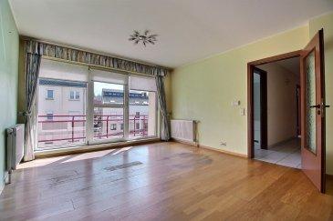 En exclusivité chez Active Invest:  Jolie Penthouse de +/-84m2 avec balcon et au centre-ville de Dudelange    Cet appartement se situe au dernier étage et se compose comme suit :  -Hall d'entrée (avec porte de sécurité)  -Salle de bain   -WC séparé  -Cuisine séparée  -1. Chambre à coucher   -2. Chambre à coucher  -Grand Living avec accès au balcon (+/-7m2)  -Ascenseur   L'appartement dispose aussi d'une cave privative de +/-6m2 et d'un emplacement intérieur.   Situation géographique idéale, tous les déplacements sont possibles sans voiture.  L'appartement se situe à deux pas de la commune de Dudelange, du nouveau Shared Space, des centres commerciaux, de la Gare et la station principale de bus.  L'appartement est disponible de suite.   Trouvez toutes les informations pratiques sur le site de la commune de Dudelange : www.dudelange.lu  (Dudelange, on dirait le Sud! )   Vous avez un bien à vendre, n'hésitez pas à nous contacter !   Schwätze Lëtzebuergesch: All Informatiounen kennt dir gären och op Lëtzebuergesch kréien!   Spreche Deutsch: Alle Informationen können Sie gerne auch auf Deutsch bekommen!   Speak English: We can provide you all the Information in English!