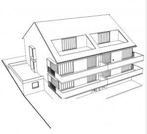 Nouvelle construction en vente a Deiffelt. 4 appartements dans une residence de 4 menages 2 x duplex (1 deja réservé) 2 x duplex ( 1 deja réservé) avec rez de jardin 1 parking intérieur et 1 parking extérieur par logement Vue sur les champs