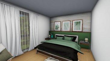 Appartement  Neuf Sarreguemines 3 pièce(s) 79,51m2. Niché dans un écrin de verdure, nous vous proposons un bel appartement de 79,51 m2 en VEFA ( Vente en l\'Etat Futur d\'Achèvement), au 1er étage d\'une résidence neuve au calme à Sarreguemines. <br/><br/>Vous disposerez d\'un hall d\'entrée, d\'une cuisine équipée ouverte sur salon-séjour, de deux belles chambres, d\'une salle de bains et d\'un wc individuel. <br/><br/>Vous profiterez d\'un beau balcon de 7,23 m2, d\'une place de parking et d\'une cave privative. <br/><br/>Les plus de cet appartement:<br/><br/>- ascenseur<br/>- volets électriques avec menuiseries en PVC<br/>- chauffage gaz par le sol<br/>- accès aux personnes à mobilité réduite<br/><br/>Pour plus de renseignements, contactez nous au 03.72.64.01.02<br/>Copropriété de 35 lots (Pas de procédure en cours).