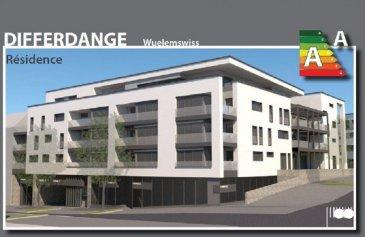 !!!!! Magnifique appartement nouvel construction à saisir !!!!!<br><br>ImmoNordstrooss à l\'honneur de vous presenter cette magnifique appartement de 66 m2 +/- avec une finition haute gamme au 2ème étage d\'une residence haute standing en plein coeur de Differdange.<br> Ce beau appartement se compose comme suit :<br>- Un hall d\'entrée<br>- Une grande salle de séjour aux larges baies vitrées avec accès à une terrasse orientée sud-ouest <br>- une chambre<br>- une salle de bain <br>- WC séparé.  <br>- Une cuisine moderne entièrement équipée (Cuisine Kichechef Luxembourg (électroménager de marque BOSCH), entièrement modifiable si besoin par l\'acheteur à charge du vendeur dans les limites du budget prévu (délais de livraison estimés à la commande environ 6 semaines).<br>- Deux petites pièces de rangement ,un emplacement de parking intérieur (12.65 m2) et une cave (5.05m2 )viennent compléter parfaitement ce bien.<br><br>Autres caractéristiques : <br>Triple vitrage isolant et phonique, châssis et fenêtres en PVC de couleur blanche à l\'intérieur et gris anthracite à l\'extérieur, châssis fixes, ouvrants et oscillo-battants, fenêtres toutes équipées de volets extérieurs électriques gris anthracite.  Vidéophone, systèmes de ventilation. Revêtements de sol : carrelages clairs 60x60 (appartement) et 30x60 (SdB) d\'entretien très facile d\'entretien. Salle de bain avec douche et meubles de standing de la marque italienne INDA (Bathroom interiors) avec double vasque.Cuisine Kichechef Luxembourg (électroménager de marque BOSCH) livrée en octobre 2021.  Disponibilité 15 octobre après pose de la cuisine, 1ère occupation. <br><br>Merci de contacter notre Bureau IMMO NORDSTROOSS pour toute information supplémentaire ou visiter le bien au 691 238 008.