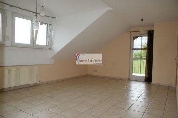 -- FR --  IMMO EXCELLENCE vous propose ce joli appartement d'une surface habitable de 73 m2 ainsi que d'une surface utile de 80 m2. L'appartement se trouve au 1er étage et se compose comme suit : Un hall ( 7.33 m2 ), une chambre-à-coucher ( 11.04 m2 ), une deuxième chambre-à-coucher ( 15.36 m2 ), une cuisine équipée ( 5.48 m2 ), une salle-de-douche avec raccordement pour la machine-à-laver ( 4.76 m2 ), un double séjour ( 24.39 m2 ) avec accès sur un balcon ( 8.67 m2 ), offrant de magnifiques vues bien dégagées, un débarras ( 1.5 m2 ) avec des étagères.  La cuisine appartient à l'ancien locataire et pourra être repris moyennant un montant forfaitaire. Plusieurs emplacements pour voitures à l'extérieur. Situation très calme et à proximité de toutes commodités.   Ref agence :3426764