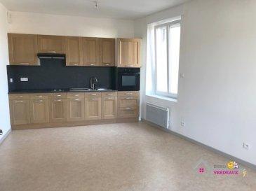 Un appartement de Type F2 comprenant une cuisine équipée (2 plaques vitrocéramique, une hotte), un salon, une chambre, une buanderie, SDB, WC.  Chauffage électrique.