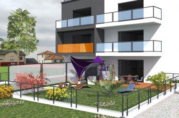 !! NOUVEAU PROJET EFA PROMOTION CLASSE ÉNERGÉTIQUE A-A-A !!   A vendre appartement au rdc avec deux chambres salon, salle à manger et cuisine en openspace avec une sortie sur une très belle terrasse et jardin privative sans vis-à-vis. Vue dégager. Une salle de douche italienne. Cave, buanderie, local vélo.   Possibilité d'acheter des emplacements intérieur.  Cette appartement est situe dans une très belle résidence