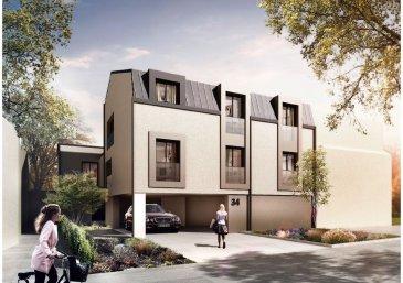 Nouveau projet à Steinsel. A vendre un appartement de 168,65 m2 au rez de chaussée d'une résidence avec ascenseur comprenant, un hall d'entrée, un séjour avec accès terrasse/jardin, trois chambres , une salle de bain, une salle de douche, une toilette séparée, une terrasse de 66,52 m2, un jardin de 150 m2, une buanderie commune et une cave.  Classe énergétique : B-B. Prix indiqué TVA 3%. Emplacement intérieur : 30.813,78 Eur TVA 3%. Livraison : Printemps 2021.