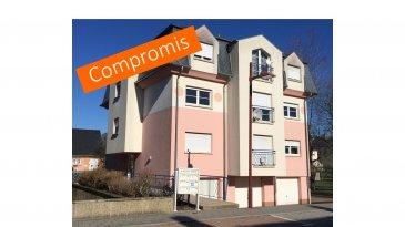*** SOUS COMPROMIS *** SOUS COMPROMIS *** SOUS COMPROMIS ***  Localisé à Pétange, la résidence construite en 2001 se trouve dans une impasse calme, à côté d'un parc de jeu pour enfants. L'appartement de ± 66 m² orienté Nord, est situé au rez-de-chaussée et se compose comme suit :   Depuis le hall d'entrée ± 4 m², on accède au séjour ± 30 m², à la chambre ± 14 m², à la salle de douche ± 7 m² avec deux lavabos baignoire et WC, et à un débarras de ± 3 m².   Depuis le living nous accédons à la cuisine équipée de 8,80 m². Celle -ci comprend un four, une plaque de cuisson vitrocéramique, une hotte, un lave-vaisselle et un réfrigérateur.   Le chauffage est assuré par une chaudière commune à condensation au gaz. La régulation se fait par robinets thermostatiques et capteurs sur les radiateurs. Les fenêtres sont en double vitrage PVC.  Au sous-sol se trouve la chaufferie ainsi que le local technique commun, ainsi que les garages. Celui rattaché à l'appartement, d'une surface de ± 16 m², est situé côté rue. Le stationnement est également possible devant le garage, en dehors de l'espace public.    Un grenier de ± 11 m² et un emplacement dans la buanderie sont aussi rattachés au bien.   Généralités :  -Carrelage au sol dans tout l'appartement. -Passeport énergétique : E/E -Situation idéale : quartier résidentiel proche du centre-ville (5 min). Arrêt de bus à 150 m de l'immeuble. -Appartement en bon état. -Appartement actuellement loué.   Agent responsable : Gaëtan Lupinacci Email : gaetan@vanmaurits.lu GSM : (+352) 671-157-120