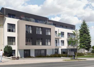 NIEDERKORN  Prochainement en construction situé au 1er étage appartement 80,41 m2 habitables + balcon de 8,73 m2, comprenant :  - Hall d'accueil - Salon et salle à manger avec accès terrasse. - Cuisine  - Salle de bains/douche  - Wc séparé - 2 chambres à coucher - Cave privative et buanderie commune  Possibilité d'acquérir un parking intérieur simple au prix de 25 000.€ ou un parking intérieur double au prix de 39 000€   LES PRIX ANNONCES S'ENTENDENT TTC 3%  N'hésitez pas de nous contacter au cas d'intérêt :  info@newgest.lu