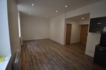 Bon'Appart vous propose ce très bel appartement NEUF de type F2 en rez-de-chaussée à MOUTIERS.  Entièrement refait à neuf, il se compose d'une cuisine équipée (plaque vitrocéramique, hotte) ouverte sur un vaste séjour, d'une chambre et d'une belle salle d'eau avec WC.   Il y a également une grande terrasse privative avec accès direct via le séjour et une cave. L'appartement est équipé d'un adoucisseur d'eau.  Loyer : 530 euros H.C Charges récupérables = 120 euros : TOM, électricité, eau chaude, eau froide, chauffage.  DISPONIBLE DE SUITE.