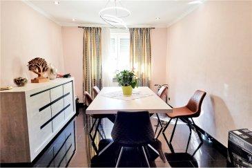 RE/MAX spécialiste de l\'immobilier au Luxembourg vous propose à la vente cette charmante maison située à Esch-sur-Alzette.  Sur une totalité de 165m2, elle se compose comme suit : - Living room lumineux  - Cuisine équipée  - 4 chambres à coucher  - un wc séparé - 2 salles de bain - un balcon (15m2)  Informations complémentaires  - Triple vitrage  - Pas de travaux : rénovation et isolation complète ainsi que la toiture refaite. - 1 cave + sous-sol aménagé  La commission d\'agence est incluse dans le prix de vente et elle est supportée par la partie venderesse.<br>