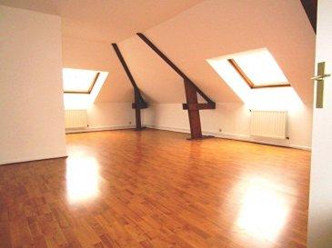 Appartement Metz 5 pièce(s) 82.56 m2. Au coeur de Metz au dernier étage 4/4  avec ascenseur<br>Appartement T5 de 119.85 m2 au sol et 82.56 m2 carrez. Il se compose d\'une entrée avec placard d\'un séjour double, 3 chambres,1 cuisine équipée, 1 salle d\'eau et 1 salle de bain avec wc.<br>Chauffage individuel gaz.<br>Une cave en sous sol<br>