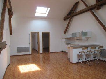Bel appartement de type F4 de 96 m2. Il se compose de 3 chambres, une salle de bains avec douche et WC, Cuisine semi-équipée ouverte sur séjour, un garage  Chauffage électrique.  Frais d\'agence = 432 € TTC