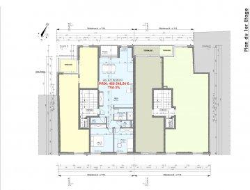 Votre agence IMMO LORENA de Pétange vous propose dans une résidence contemporaine en future construction de 8 unités sur 3 niveaux située à Pétange, 110, route de Luxembourg, un appartement au premier étage de 82,28 m2 décomposé de la façon suivante:  - Hall d'entrée -Double living de 39,05 m2 donnant accès à la terrasse de 4,17 m2 - WC séparé de 1,40 m2 - Débarras de 2,11 m2 - Salle de douche de 4,85 m2 - Deux chambres de 10,25 m2 et 13,83 m2  - Une cave privative, un emplacement pour lave-linge et sèche-linge au sous sol. Possibilité d'acquérir un emplacement intérieur (28.840 €)TTC 3%  Cette résidence de performance énergétique AA construite selon les règles de l'art associe une qualité de haut standing à une construction traditionnelle luxembourgeoise, châssis en PVC triple vitrage, ventilation double flux, chauffage au sol, video - parlophone, etc... Avec des pièces de vie aux beaux volumes et lumineuses grâce à de belles baies vitrées.  Ces biens constituent entres autre de par leur situation, un excellent investissement. Le prix comprend les garanties biennales et décennales et une TVA à 3%. Livraison prévue 2023.  1,5% du prix de vente à la charge de la partie venderesse + 17% TVA Pas de frais pour le futur acquéreur   À VOIR ABSOLUMENT!  Pour tout contact: Joanna RICKAL: 621 36 56 40  Vitor Pires: 691 761 110  Kevin Dos Santos: 691 318 013  L'agence Immo Lorena est à votre disposition pour toutes vos recherches ainsi que pour vos transactions LOCATIONS ET VENTES au Luxembourg, en France et en Belgique. Nous sommes également ouverts les samedis de 10h à 19h sans interruption.