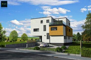 Progetra Luxembourg vous présente sa nouvelle résidence « MUMIAH » située à Pontpierre, rue de Schifflange.  Avec sa classe énergétique ABA, elle sera dotée d'une  pompe à chaleur air/eau qui dispose d'un coefficient de performance élevé, permettant de faire d'importantes économies d'énergie et de panneaux solaires en toiture. Pour le plus grand confort, le chauffage sera réalisé par le sol !  Cette résidence se compose de 4 appartements, un rez de chaussée avec son jardin privé et d'un abri de jardin 2 appartements au 1er étage, et un penthouse avec son accès privatif depuis l'ascenseur, tous dotés d'une terrasse orientée SUD.  Les appartements offrent des espaces de vies soigneusement réfléchis, un concept d'une architecture contemporaine comme le veut notre époque !  Libre des 4 côtés, la situation se veut quelque peu exceptionnelle, une vue dégagée et imprenable sur les champs, à proximité de toutes commodités, mixant ainsi la campagne à la vie citadine..  L'appartement 1 du RDC, se décompose comme suit : Jardin de 638 m2 Terrasse de 52.84 m2 Hall d'entrée : 7.82 m2 WC séparé : de 1.89 m2 Séjour/cuisine : 44.60 m2 Chambre 1 de 14.62 m2 et sa salle de douche de 4.51 m2 Chambre 2 de 11.08 m2 Chambre 3 de 13.04 m2 Salle de douche de 6.38 m2  Un emplacement intérieur et un emplacement extérieur compris dans le prix !  Ce prix s'entend en partie avec une TVA 17 % et une TVA de 3% sous réserve de l'obtention de l'administration des contributions.