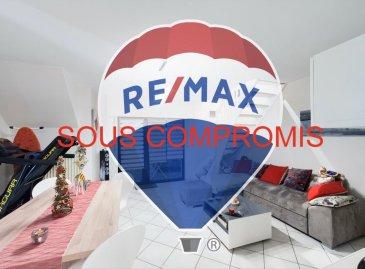 **** SOUS COMPROMIS ****  Visite virtuelle : https://premium.giraffe360.com/remax-partners-luxembourg/bc841ad7b6cf45d7a97566d20359ff83/  Louis MATHIEU RE/MAX Partners, spécialiste de l'immobilier à Niederkorn vous propose en exclusivité à la vente ce bel appartement duplex de 1992, très bien entretenu, d'une superficie de 59 m2 utiles. Situé proche des commodités, dans une résidence sans ascenseur de sept unités, il se compose de la manière suivante :   Un hall d'entrée, une pièce de vie séjour/salle à manger de presque 28 m2 avec un accès sur une belle terrasse exposée Sud, une cuisine équipée indépendante, une salle de douches avec un WC.  Au niveau supérieur : une partie dressing et une chambre. Le tout sur une surface de presque 20 m2 au sol.  Ce bel appartement est complété par un garage individuel et une buanderie commune.  Caractéristiques supplémentaires : double vitrage, chauffage au gaz, rénovation récente, etcà  L'appartement est vendu meublé.  Disponible à partir du 1er juillet 2021.  La commission d'agence est inclue dans le prix de vente et supportée par le vendeur.  Contact : Louis MATHIEU au +352 671 111 323 ou louis.mathieu@remax.lu Ref agence : 5096382