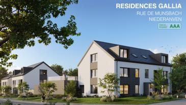 Cet appartement est situé au rez-de-chaussée de l'immeuble B. La surface habitable de 91 m² est répartie, en hall d'entrée avec wc d'invités, un grand séjour de 19 m², une salle à manger de 19 m² et une cuisine de 8 m² donnant sur une belle terrasse de 21 m² et un magnifique jardin de 53 m². Deux chambres à coucher, dont une de 15 m² et une de 12 m², encadrées par une salle de bain de 6 m². Une cave de 7 m² et un parking intérieur et extérieur, complètent l'offre.