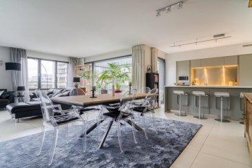 RE/MAX, spécialiste de l'immobilier à Luxembourg, vous propose à la vente à KIRCHBERG un bel appartement 3 chambres avec superbe vue !   Nous vous proposons en exclusivité, un bien situé au dernier étage d'une résidence très bien entretenue. Cet appartement d'environ de 141 m² habitables est équipé de la climatisation. Il se compose d'un hall d'entrée avec placards, d'un WC, d'un grand séjour doté d'un insert et d'une cuisine équipée ouverte. Le tout baigné de lumière grâce à ses nombreuses baies vitrées. La partie nuit quant à elle se compose d'un hall de nuit aménagé avec des placards, d'une salle de douche, d'une salle de bain avec WC et de trois chambres à coucher (18 m² - 15 - m² - 13,50 m²) possédant chacune de très grands dressings.  Deux terrasses de 22 m² orientées N/E et S/E agrémentent ce très bel appartement.  Au sous-sol, une cave de 8 m², 2 emplacements de parking et une buanderie commune, complète ce bel ensemble.  Les frais d'agence sont à charge de la partie venderesse.  N'hésitez pas à nous contacter pour plus d'informations.  RE/MAX Partners Philipppe VOGT tel: 621 689 637 email: philippe.vogt@remax.lu   Kirchberg est le quartier d'affaires, culturel et résidentiel par excellence. Toutes les grandes institutions financières y sont représentées, mais aussi la très belle salle de concert « Philharmonie », le Musée d'art moderne « Mudam » ainsi que de nombreuses salles de sport sans oublier la piscine olympique « La Coque ». Pour les loisirs, de nombreux restaurants, bars et salles de cinéma, centre commercial. Sans oublier, l'hôpital Kirchberg et la clinique Bohler.  Plusieurs lignes de bus relient le centre-ville ainsi qu'une ligne de tram.  Ref agence :5096249