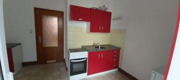Appartement T1 proche du Pange, Sarreguemines. Appartement T1 à louer à deux pas du Pange à Sarreguemines et proche centre ville.<br/>Joli petit appartement de 35 m² au rdc comprenant une cuisine meublée et équipée d\'une gazinière, d\'un réfrigérateur... une chambre de 17.5 m², d\'un petit balcon attenant et d\'une cave<br/>Libre de suite