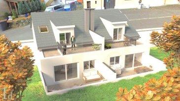 NOUVELLE construction à HOBSCHEID<br><br>Découvrez cette maison bifamilialle haut de gamme qui sera érigé dans le quartier du Hobscheid livré clé en mains.<br><br>Chaque maison possède une surface habitable de /-140 m2, avec une entrée commune donnant donnant sur : <br>Lot B - Droite<br><br>Au RDC : garage pour deux voitures, un emplacement extérieur, buanderie, cave et local technique <br><br>Au 1er : spacieuse cuisine ouverte donnant vers le séjour/salon de /- 82,20 m² avec accès sur une terrasse de /- 20m2 et jardin de /- 1 ares séparée de par une palissade, un WC séparé <br><br>Au 2éme :un hall de nuit desservant 1 salle de bains de 6 m², et 3 grandes chambres, avec l\'accès à un balcon de 12 m².<br><br>Merci de contacter notre Bureau IMMO NORDSTROOSS pour toute information supplémentaire ou visiter le bien au 691 850 805.